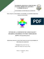 Tesis Acidos Grasos en Tres Variedades de Quinua