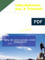Leadership Behavior, Motivation, & Theories.odp