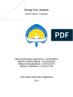 Group Assignment - Management Control Systems - Birch Paper Company