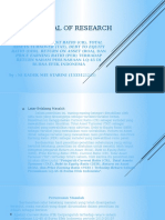 The Proposal of Research