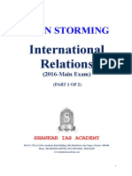 International Relations 2016 questions