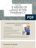 the misuse of drugs in the pharmacy - ism powerpoint - final copy