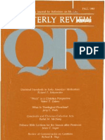 Fall 1985 Quarterly Review - Theological Resources for Ministry
