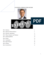Evidence Checklist