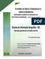 4aula SIG Operacoes Geometricas de Vetores