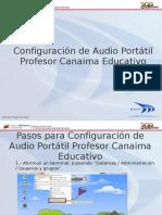 Configuración de Audio Portatil Profesor Canaima Educativo Tecnico