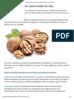 Beneficios de Comer Nueces Todos Los Días - Saludable