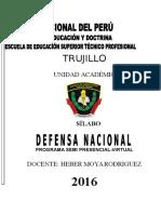Silabo Defensa Nacional 1