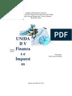 Unidad IV Finanzas e Impuesto Informe Toniel
