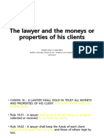 K - The Lawyer and the Moneys or Properties of Clients