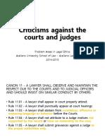 M - Criticisms Against the Courts Judges Justices