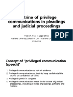 N - Doctrine of Privilege Communications in Pleadings