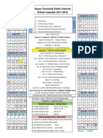 Wayne Public School District's 2017-18 Calendar