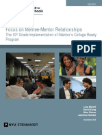 Focus on Mentee-Mentor Relationships