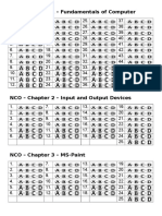 NCO – Answer Sheets