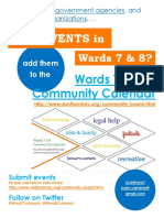 Wards 7 and 8 Community Calendar Promotion Flyer