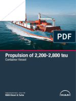 Propulsion of 2 200-2-800 Teu Container Vessel