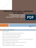 Spatial Perceptions & Rendering Techniques