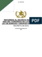 Dt16-28 - Reformas ley de bancos