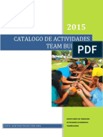 Catalogo de Actividades Teambulding Team X.0- 2015-I