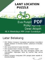 Plant Location Puzzle Eldora Company