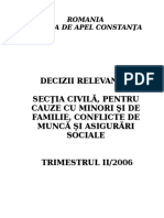 Sectia Civila - Decizii Relevante Trimestrul II 2006