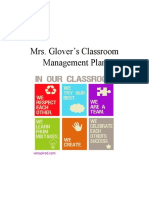 mrs  glovers classroom management plan