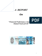 Financial Performance Analysis on Mutual Fund of ICB