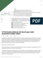 160216_12 fórmulas básicas de Excel que todo arquitecto debe saber - Plano y Escala