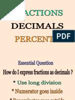 Fractions Decimals and Percents Conversions 2 1ng2vic