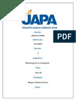TAREA 4 DE METODOLOGIA DE INVESTIGACION UAPA