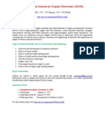 International Journal on Organic Electronics (IJOE)