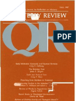 Fall 1987 Quarterly Review - Theological Resources for Ministry