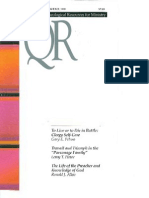 Fall 1988 Quarterly Review - Theological Resources for Ministry