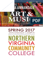 Spring 2017 Art and Music at NOVA Annandale
