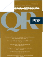 Winter 1985-1986 Quarterly Review - Theological Resources for Ministry