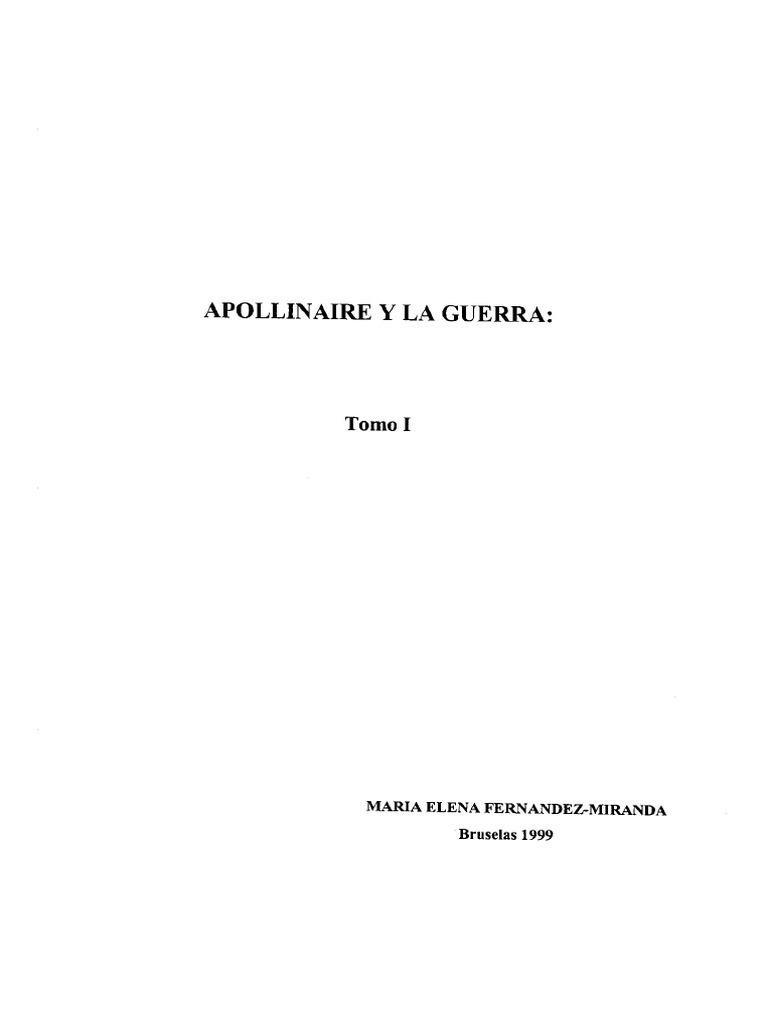 Apollinaire Y La Guerra