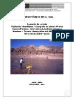 Informe Nº011 - Comiision de Aforos Octubre 10-10-2016