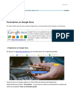 Tutorial Google Docs - Formularios