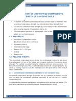 Job#4 Unconfined Compressive Strength