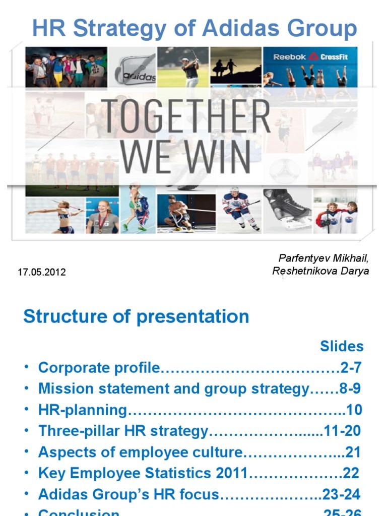 adidas hr strategy adidas strategic management