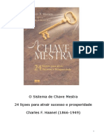 Charles F. Haanel - A Chave Mestra.doc