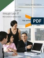 Accenture High Performance Through Lean IT