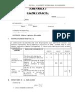 Examen Parcial Matem.ii