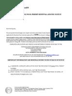 Public Pool Permit Application 2016