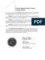 5/26/99 Chicago School Board resolution in favor of Save-A-Life Foundation