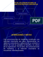 La Relacion de Las Comunicaciones de Makt Para La Estrategia Corporativa