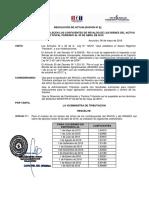 Coeficiente de Revalúo Al 30 de Abril 2016