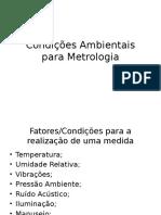 Condições Ambientais Para Metrologia