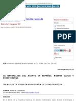 LA NATURALEZA DEL ACENTO EN ESPAÑOL Hernán Urrutia Cárdenas